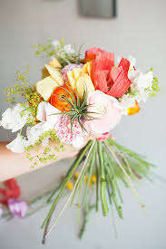 Paper Flower Bouquet For Wedding Diy Bridal Bouquet Nyc Event Designer And Florist Michelle
