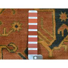 6 2 x8 9 hand knotted pure wool kazak overdyed orange oriental rug