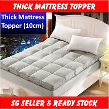 thick mattress topper. Extra Thick Mattress Topper Gray 10cm Cover Bed Pad Comfortable Protector Foam Quilt Tatami Blanket