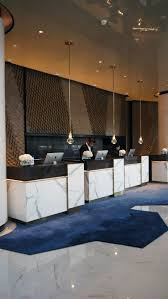 get the latest ideas and luxury inspirations to decor a reception hotel or a lobby