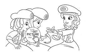 Princess Sofia With Friends Coloring Page For Girls Disney For Kids