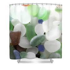 sea glass shower curtain seaglass shower curtains bathroom decor shower accessories beach