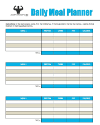Daily Food Planner Free Printable Meal Planner Pdf Download Them Or Print
