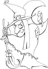 Small Picture Halloween color pages witch printable coloring pages for free