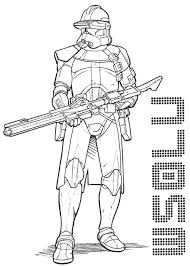 Clone Trooper Coloring Page Star Wars The Clone Wars Coloring Pages