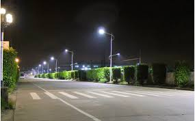 environmentally friendly lighting. Led Street Lighting Silver Strong Long Metal Pole With Round Lamp Cool White Light Great Environmentally Friendly