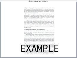 200 Word Essay Examples One Word Essay Pages 200 Example Komphelps Pro