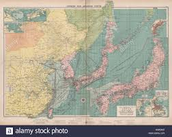 Chinese General Chart Chinese Japanese Ports Sea Chart Lighthouses Mail Routes