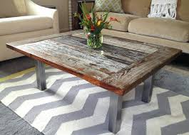 rustic wood and metal coffee table best spray paint for wood