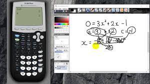 ti 84 graphics calculator lesson 5 solve quadratic equation part 1