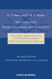 wittgenstein rules grammar and necessity volume of an  wittgenstein rules grammar and necessity volume 2 of an analytical commentary on the philosophical investigations essays and exegesis §§185 242