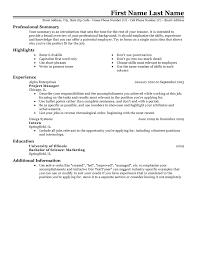 Resume Template Examples Good Resume Format Samples Free Career