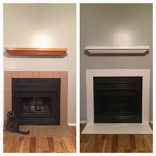painting tile around fireplace awesome painted tiles worth a try instead of replacing with black 1