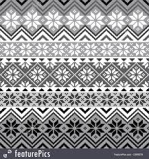 Nordic Pattern Extraordinary Abstract Patterns Nordic Snowflake Pattern Stock Illustration