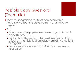 global history regents sample thematic essay edu essay