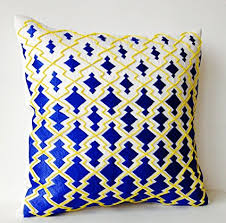 Blue And Yellow Pillow Covers