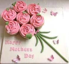 Happy Mothers Day Pink Rose Cupcake Bouquet Board Gift Spring