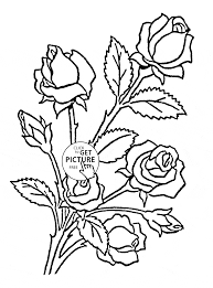 Nice Roses Coloring Page For Kids Flower Coloring Pages Printables