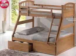 bunk beds master beds three sleeper bunk bed oak under