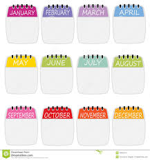 calendars with notes background or icons for calendar notes stock vector illustration