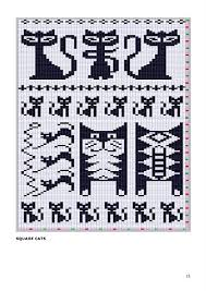 Cat Knitting Chart Maomao Cool Chart For Pattern Knitting