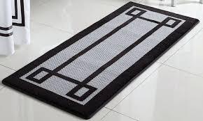 key oversized memory foam bath rug bathroom rugs runner braided chenille anti slip cotton
