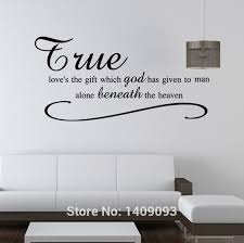fashion wall decals vinyl sticker home decor quotes true love god heaven room decoration removable diy wall sticker mural art kids wall stickers for  on wall art vinyl stickers south africa with fashion wall decals vinyl sticker home decor quotes true love god