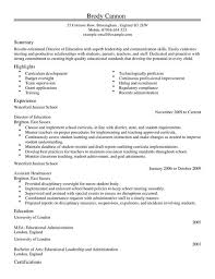 Resume Template Education Unique Director CV Template CV Samples Examples