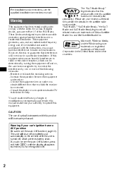 sony cdx gt310 installation radio cd operating instructions