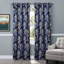 Navy And White Curtains Navy Blue Floral Curtains Navy Blue Curtains For Your Living