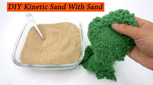 diy kinetic sand with slime ariel sand glue food coloring at home