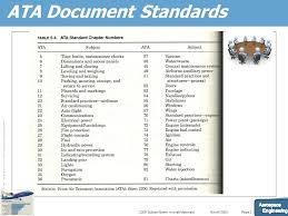 Aircraft Ata Chart Documentation And Requirement For Maintenance Program Ppt