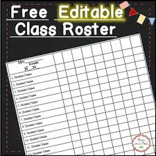 Class List Template Editable Free By Peas In A Pod Tpt