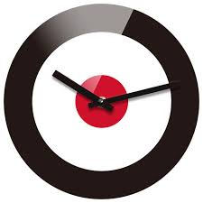 reflex non ticking silent acrylic wall clock large target black