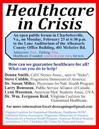 healthcare in crisis a public forum on monday rd flyer in small jpg
