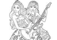 Disegni Della Bambola Barbie Da Stampare E Colorare Gratis