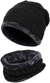 Loritta <b>2</b>-<b>Pieces Winter</b> Hat Scarf <b>Set</b> Warm Knit Thick Beanie Hat ...