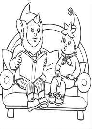 Kids N Fun Kleurplaat Noddy Groot Oor Leest Voor Aan Noddy