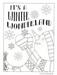 Small Picture Items similar to Winter Wonderland Coloring Page PDF Instant