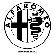 alfa romeo logo black and white. alfa romeo logo decal 2 black and white l