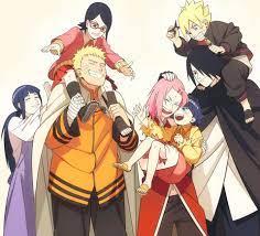 Naruto Naruto Uzumaki Hinata Hyuga Himawari Uzumaki Boruto Uzumaki Sasuke  Uchiha and Sakura Haruno HD Wallpaper   Hintergrund