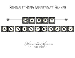 happy anniversary banners instant download printable happy anniversary banner black
