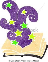 retro cartoon magic spell book csp15088997