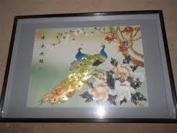 vintage chinese 3d shadow box wall art