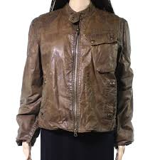 womens clothing polo ralph lauren new brown womens size small s faux leather jacket zofa18213