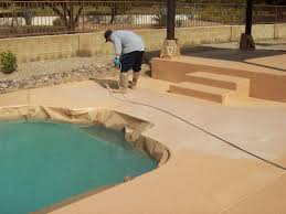lovely diy resurfacing concrete swimming pool deck ideas 9