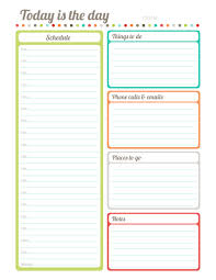 Downloadable Daily Planner Stunning Free Printable Fillable Today Is The Day Plannerdiary By Erin