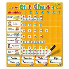 Doowell Activity Charts Fiesta Crafts Large Star Chart Yellow