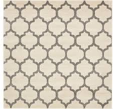 6 x 6 trellis square rug