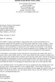 Writing Cover Letters Grant Cover Letter Examples Writing A Cover